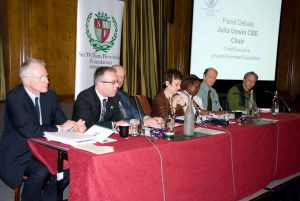 Panel members with Julia Unwin CBE, Chief Executive, Joseph Rowntree Foundation (centre)