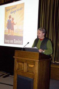Professor Peter Beresford OBE presenting his lecture